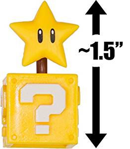 "Super Star & Question Block: ~1.5"" New Super Mario Bros. Wii Choco Egg Mini Figure Series [NO CANDY] (Japanese Import)"