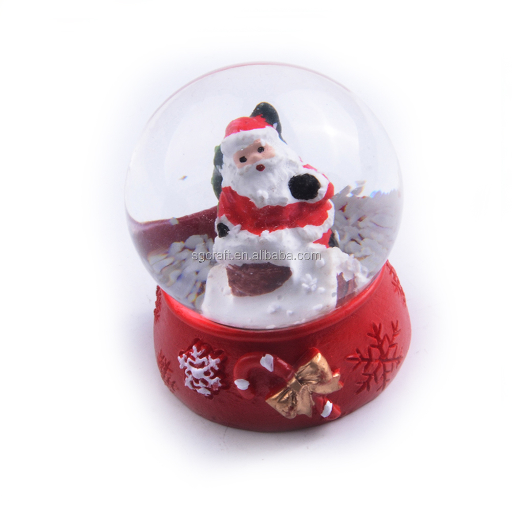 2017 New Christmas Snow Globe With Blowing Snow
