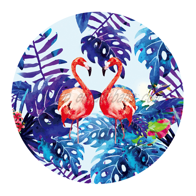 New Arrival Flamingo Microfiber Round Beach Towel