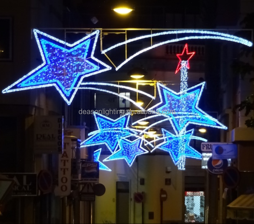 Christmas Street Star Decorative Pole Mounted Motif Light ...
