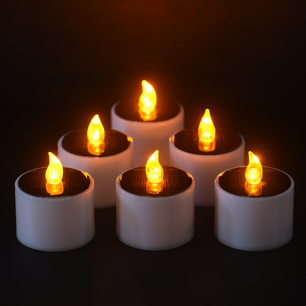 Beautiful Get Quotations · Solar Power Candles Flameless Light For Outdoor Use Or  Home Decoration (A)