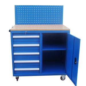5 Drawers heavy duty tool trolly with rear panel