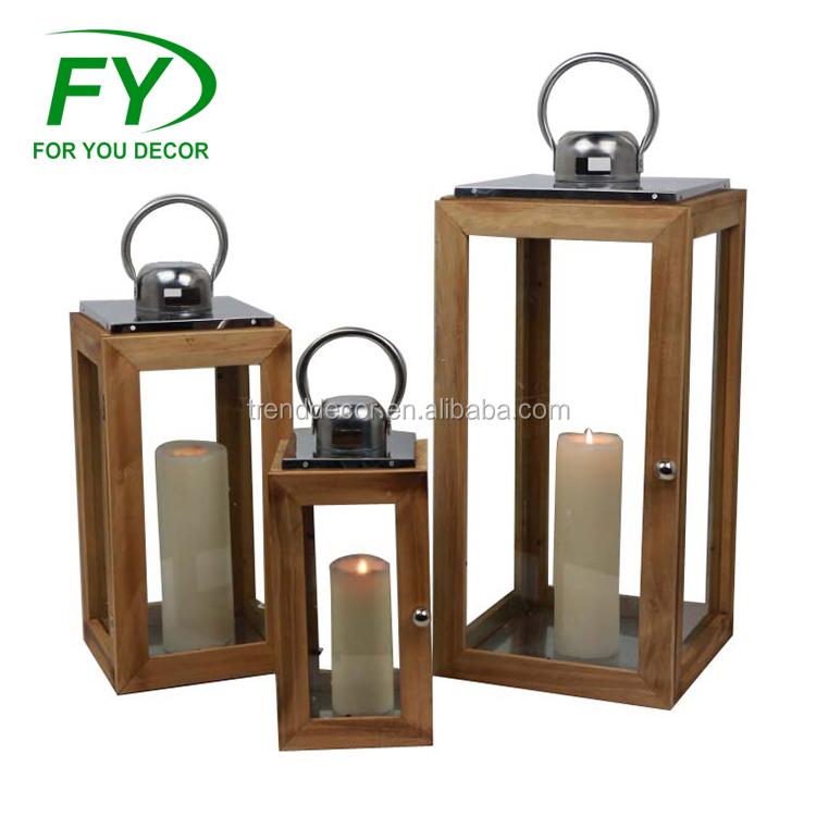 Portavelas de Metal con Forma de tri/ángulo dise/ño geom/étrico A Negro FJROnline