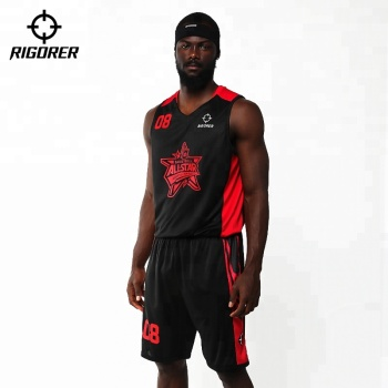 Rigorer Men's Custom Basketball Jersey and shorts Uniform Set
