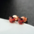 simple ladies natural red garnet earring s925 italy  silver garnet earring jewelry for women gift
