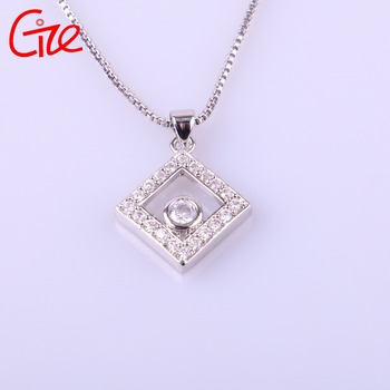 wholesale fashionable custom square shape new-designed gold chain pendant jewelry