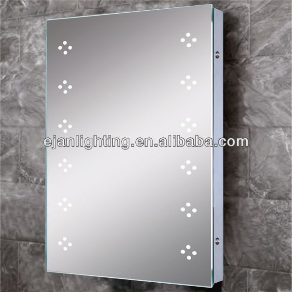 Vertical Flower Dot Shape LED Light Source Small Size Design For One Person Bathroom Accessories Bathroom Mirror