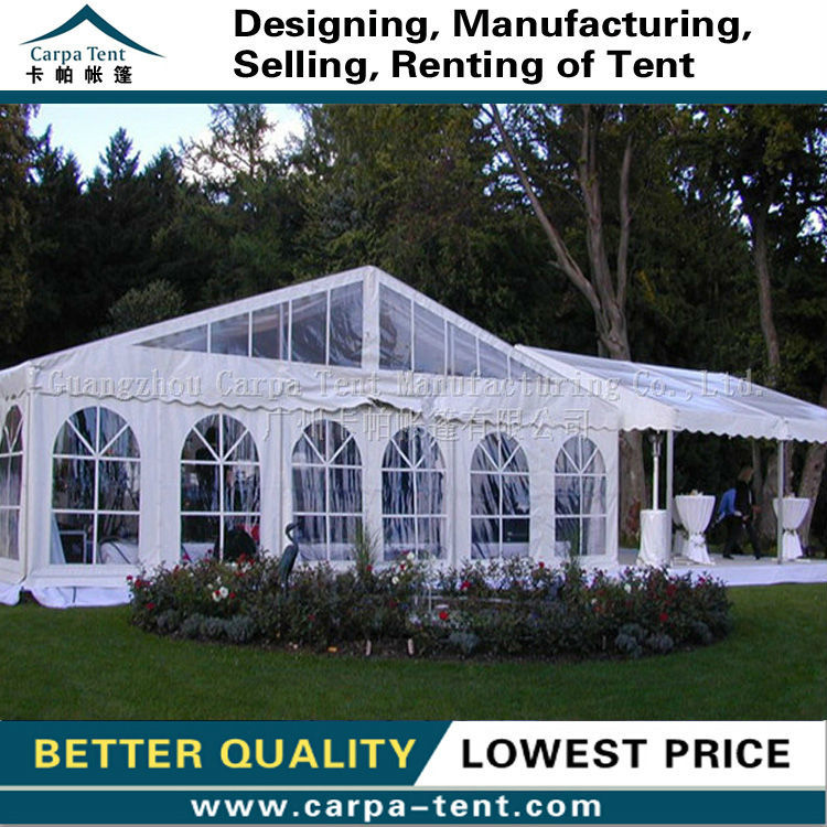 10x20m Transparent roof cover for 500 seats outdoor wedding tents for sale in Guangzhou