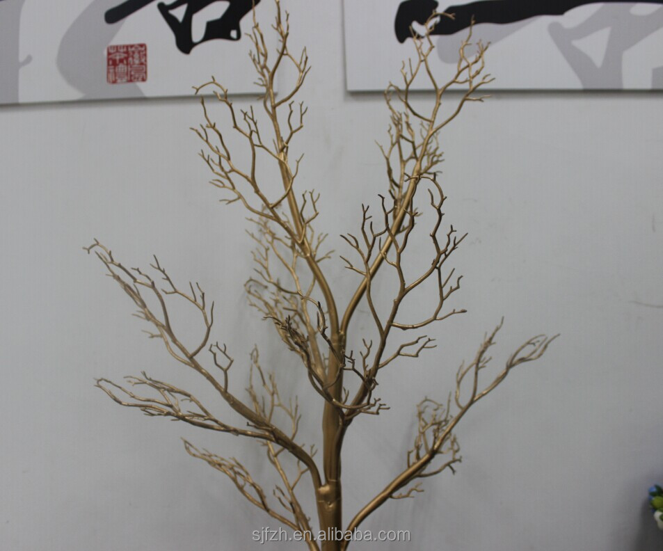 Wholesale Gold Dry Tree Branches For Wedding Centerpiece Decoration