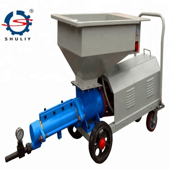 220v/diesel Motor Automatic Sand Mortar Spraying Pump Machine/wall Cement  Plaster Machine For Construction - Buy Sand Mortar Spraying Pump