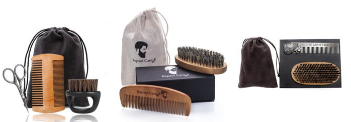 アマゾン熱い販売木製折りたたみくし髭