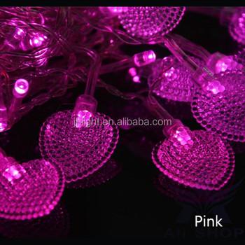 En Gros Led Coeur Forme Lumière De Rideau D\'intérieur De Partie De Ficelle  De Noël Fée Décorative En Forme De Coeur Rose Led Rideau D\'éclairage - Buy  ...