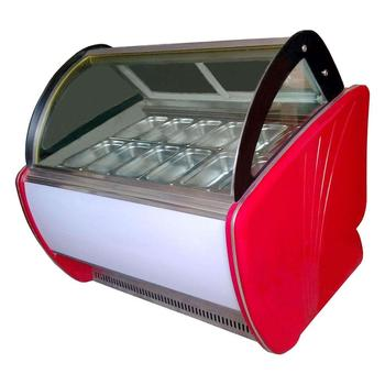 Commercial 12 Pcs GN 1/3 Pan Ice Cream Display Freezer With Factory Price