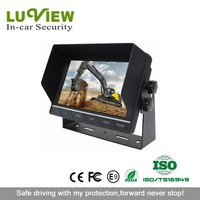 In car rearview 7 inch wide screen touch button tft lcd digital monitor for lorry, truck, trailer, bus, van, ambulance
