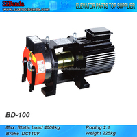 Elevator Gearless Belt Traction Machine BD-100, Lift Motor