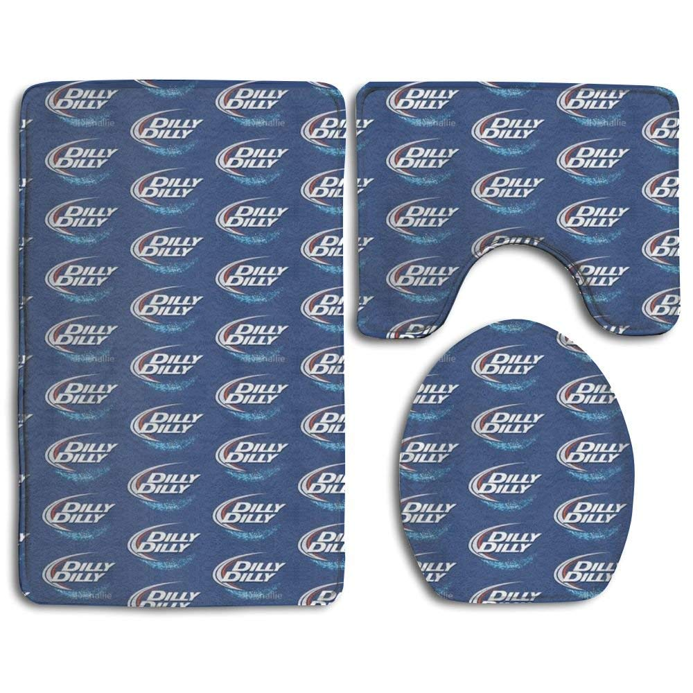 HOMESTORES Perfect Gifts - Dark Blue Marble Thicken Skidproof Toilet Seat U Shaped Cover Bath Mat Lid Cover