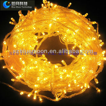 F5 Led Christmas Lights Copper Wire 10m 100l Yellow Color