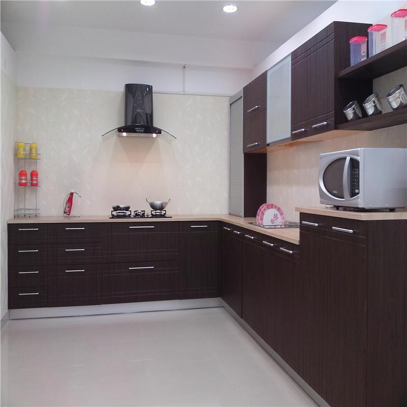 American Walnut Modular Wood Veneer Kitchen Cabinets American