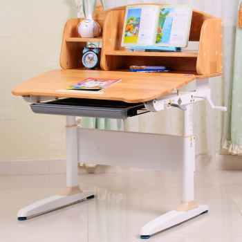 Solid Wood Kids Study Ergonomic Desk Children Adjustable Desk Study Table  For Students