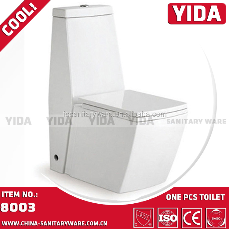 foshan yida square one piece ceramic toilet, luxury big toilet for high end building