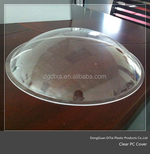 Custom outdoor domed shape clear PC light covers