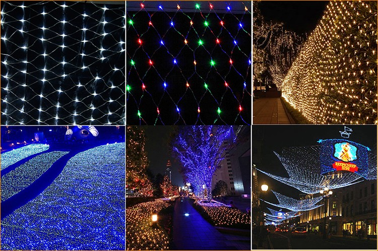 6*4M Warm White 110V LED Net Light For Garden Party Festival Wedding Decoration Outdoor Waterproof
