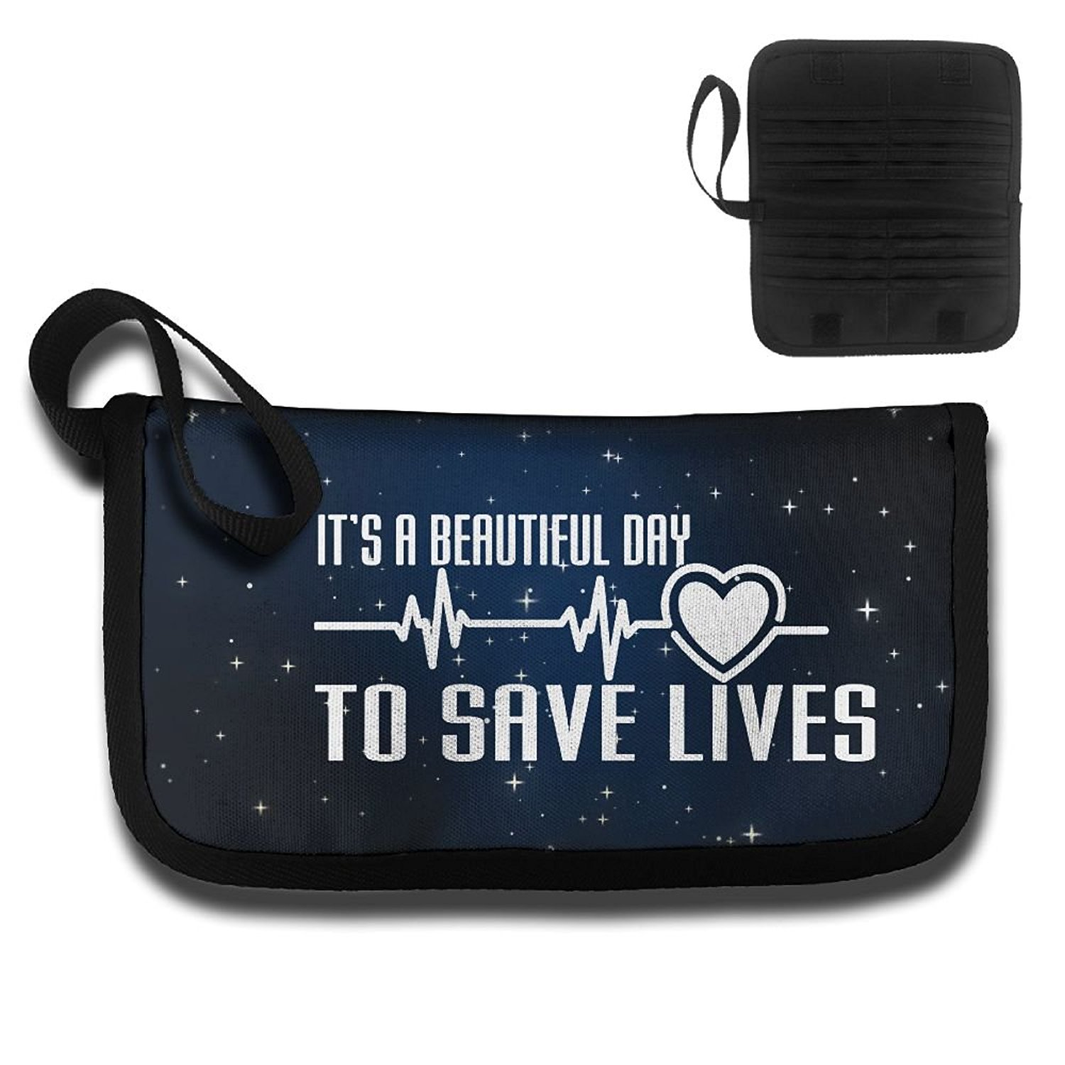 It's A Beautiful Day To Save Lives Travel Wallet Passport Holder Document Organizer