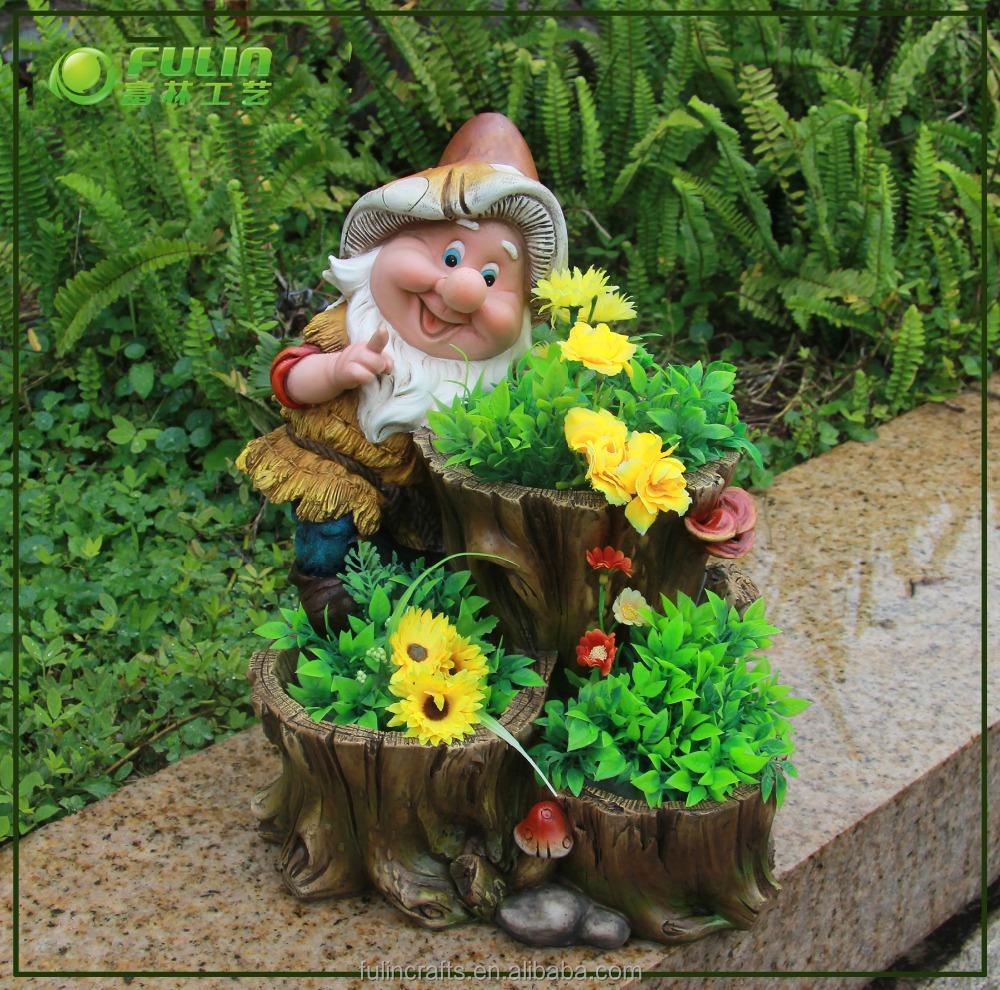 Jard n enano resina maceta maceteros para flores for Enanos jardin