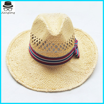 a3c660c1de1 Wholesale Mexico mens straw hats Factory Custom paper fedora Hat with  customer logo