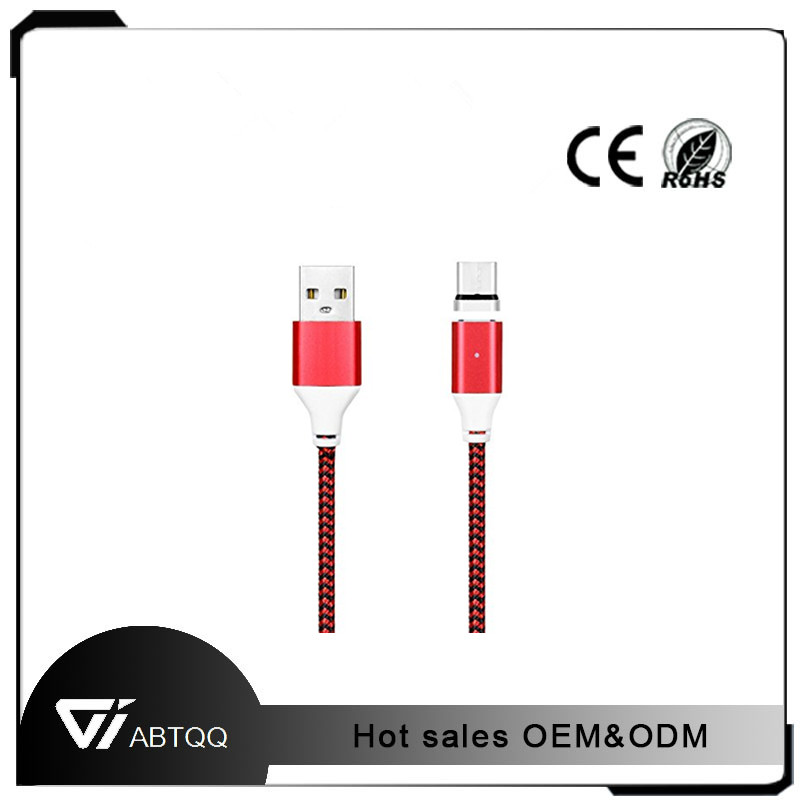 Nylon 3 in 1 Braided USB Charging Cable Magnetic Adapter Micro USB Type-C sata to adapter usb