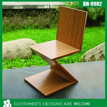 Z Shaped Dining Chair Bamboo