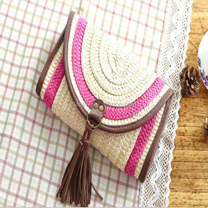 DEMIZXX467 Wholesale Custom Women Summer Popular Tote Tassels Beach Lady New Boho Style China Offer Top Sale Straw Clutch Bag
