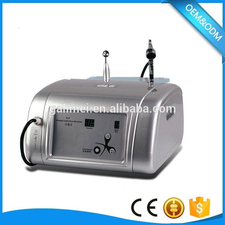 Oxygen injection for skin lightening and smooth/Portable oxygen jet device for home use
