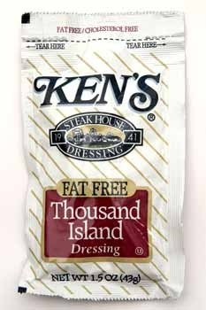 Kens 362365 Kens Fat Free Thousand Island Dressing- Case of 60