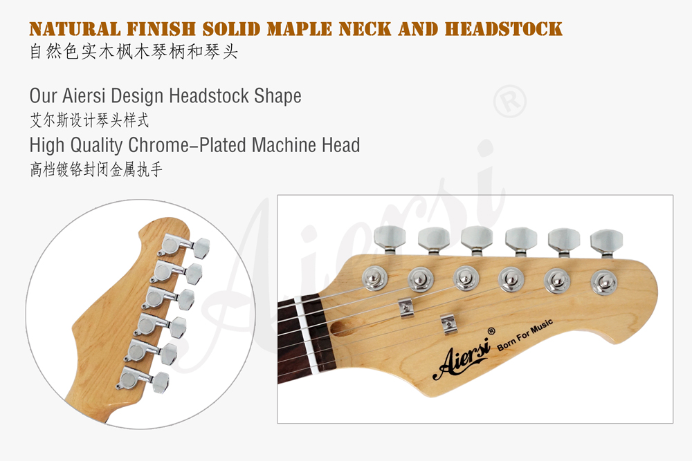 Wholesale cheap price Aiersi brand electric guitar for sale