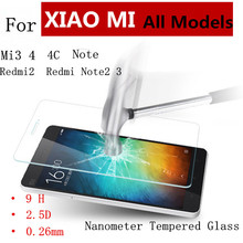Amazing 9H 0.26mm 2.5D Ultra Thin Real Premium Tempered Glass Film For XIAOMI REDMI Multi – Phone glasses + Cleaning Kit