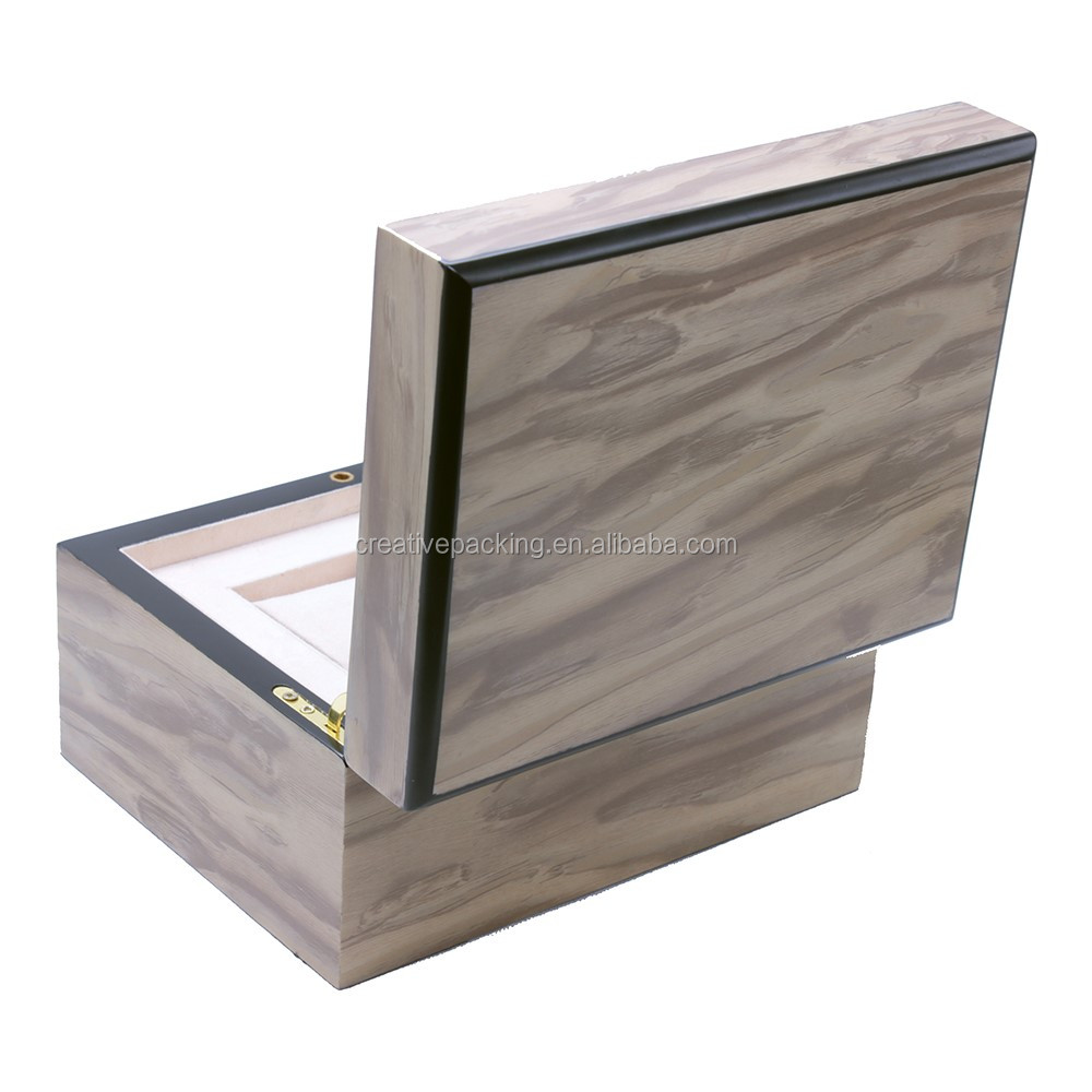 2 Slots Natural Wood Watch Box Manufacturer