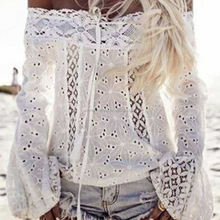 2017 Latest Sexy Halter Ladies Blouse New Fashion Lace Bandage Women Tops Design blouse