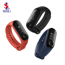 Originele Xiaomi Mi Band 3 Miband 3 Smart Tracker Band Instant Bericht <span class=keywords><strong>Caller</strong></span> ID 5ATM Waterdichte OLED Touch Screen Mi band 3