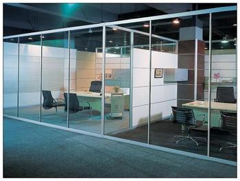 Trempé cloison de bureau en verre de haute qualité en aluminium