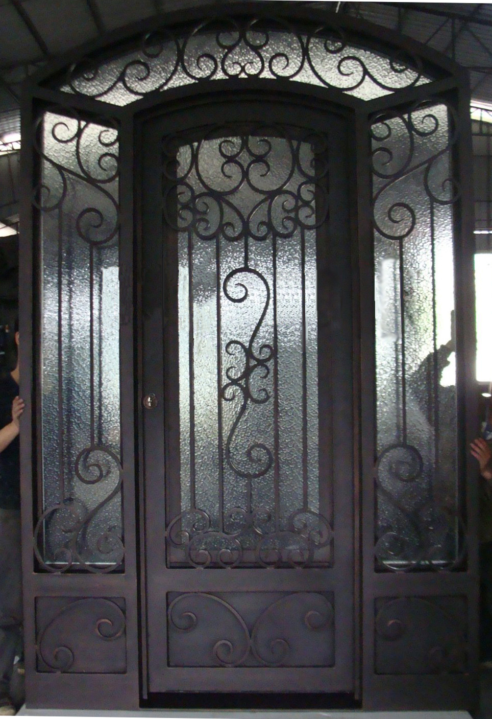 Wrought iron doors with interior glass sliding door for lm - Interior decorative wrought iron gates ...