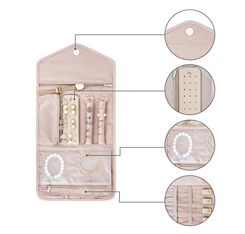 Jewelry Travel Case, Bag Jewelry Organizer for Necklace Earrings Rings