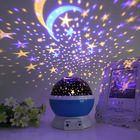 New design sky 360 degree romantic room rotating cosmos cute star projector children night light