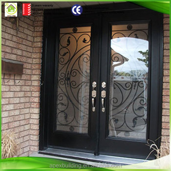 Iron Door Exterior Outside View Front Entry Doors - Buy Wrought Iron ...