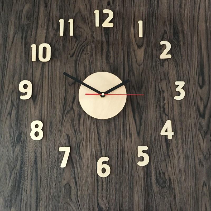 Modern Home Decorative Diy 3d Wall Clock Quartz Analog Type Wooden Clock Timepiece Watch Clock Sticker Indoor Decor Buy 3d Wall Clock Wooden