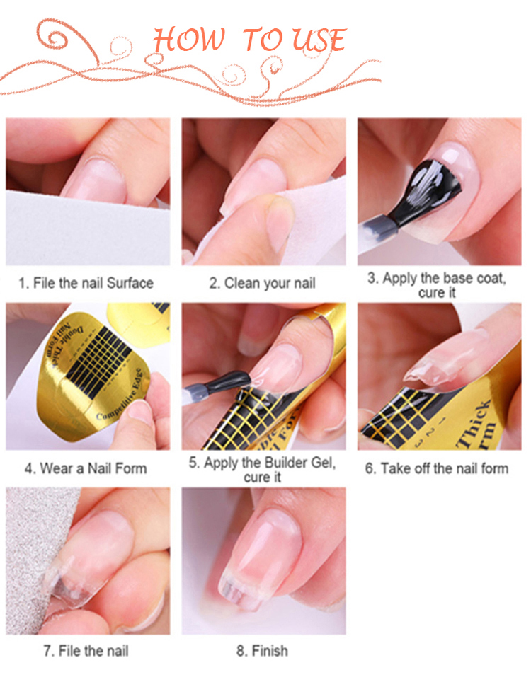 RONIKI 2019 Hot Selling 2 in 1 Builder Base and Builder Gel in One Nail Extension Builder Gel