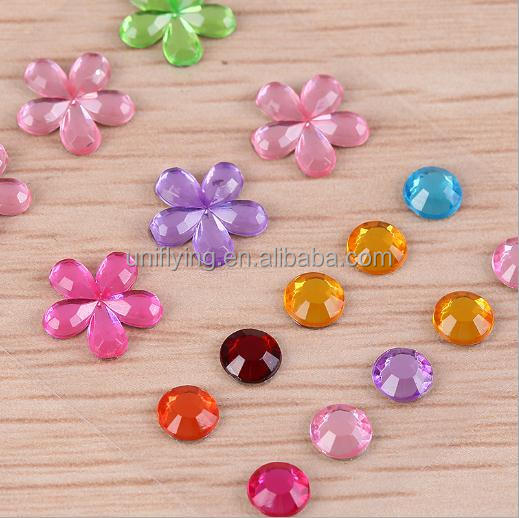 DIY Gem Sticker Self Adhesive Acrylic Rhinestone Custom Design Flatback Sticky Stones for Invitations
