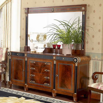Yb10 Luxury French Louis Xv Mahogany Buffet Sideboard Cabinet/ Antique  Dining Room Cabinet With Mirror Furniture - Buy Mahogany Buffet Sideboard  ...