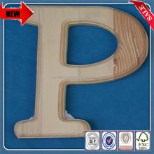 2014 antique cheap wholesale wooden decorative large alphabet carved letters with hooks