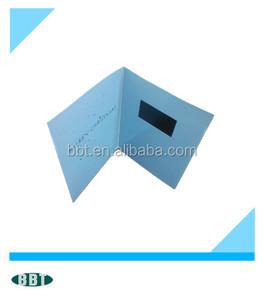 Super Slim LCD Video brochure Video Greeting Card